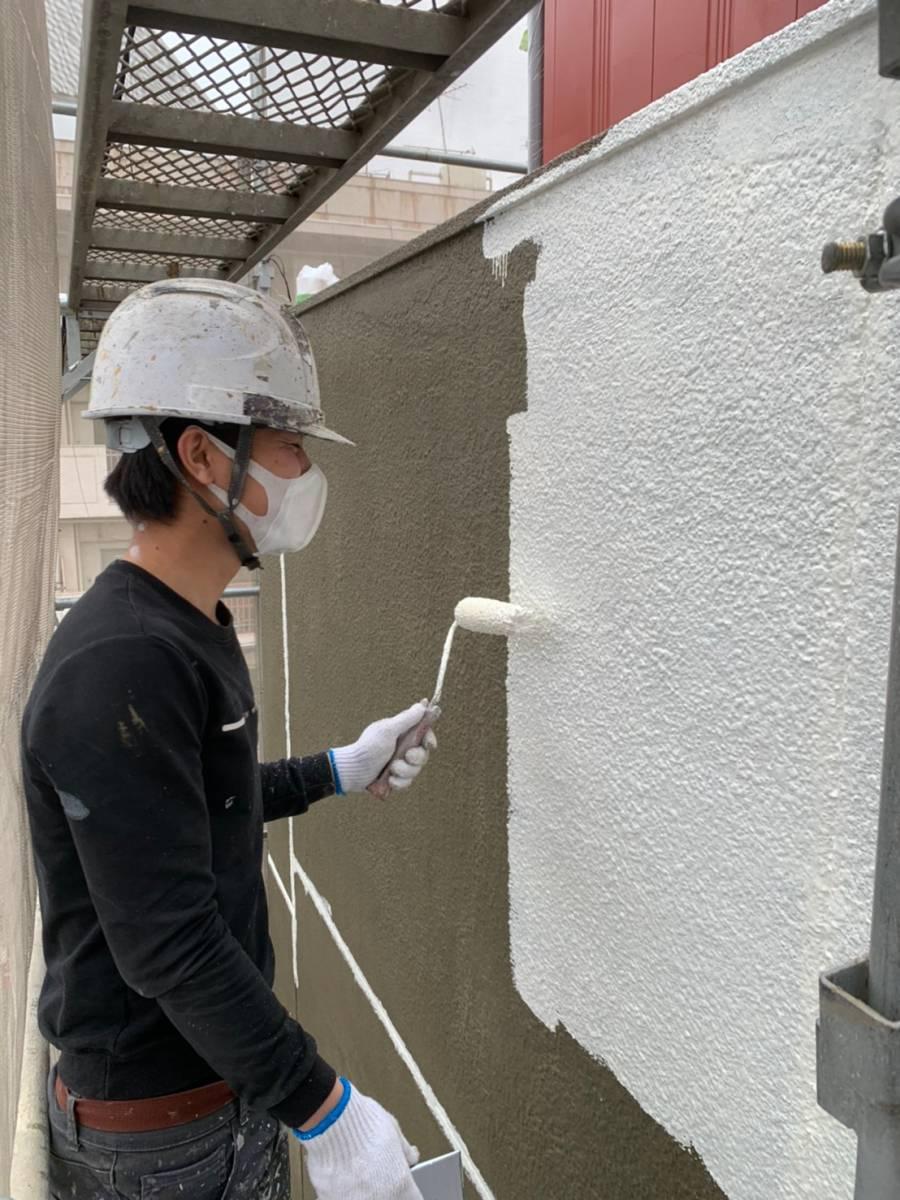岐阜県岐阜市M様邸 外壁下塗り施工写真