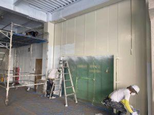 関工場 上塗り塗装施工写真