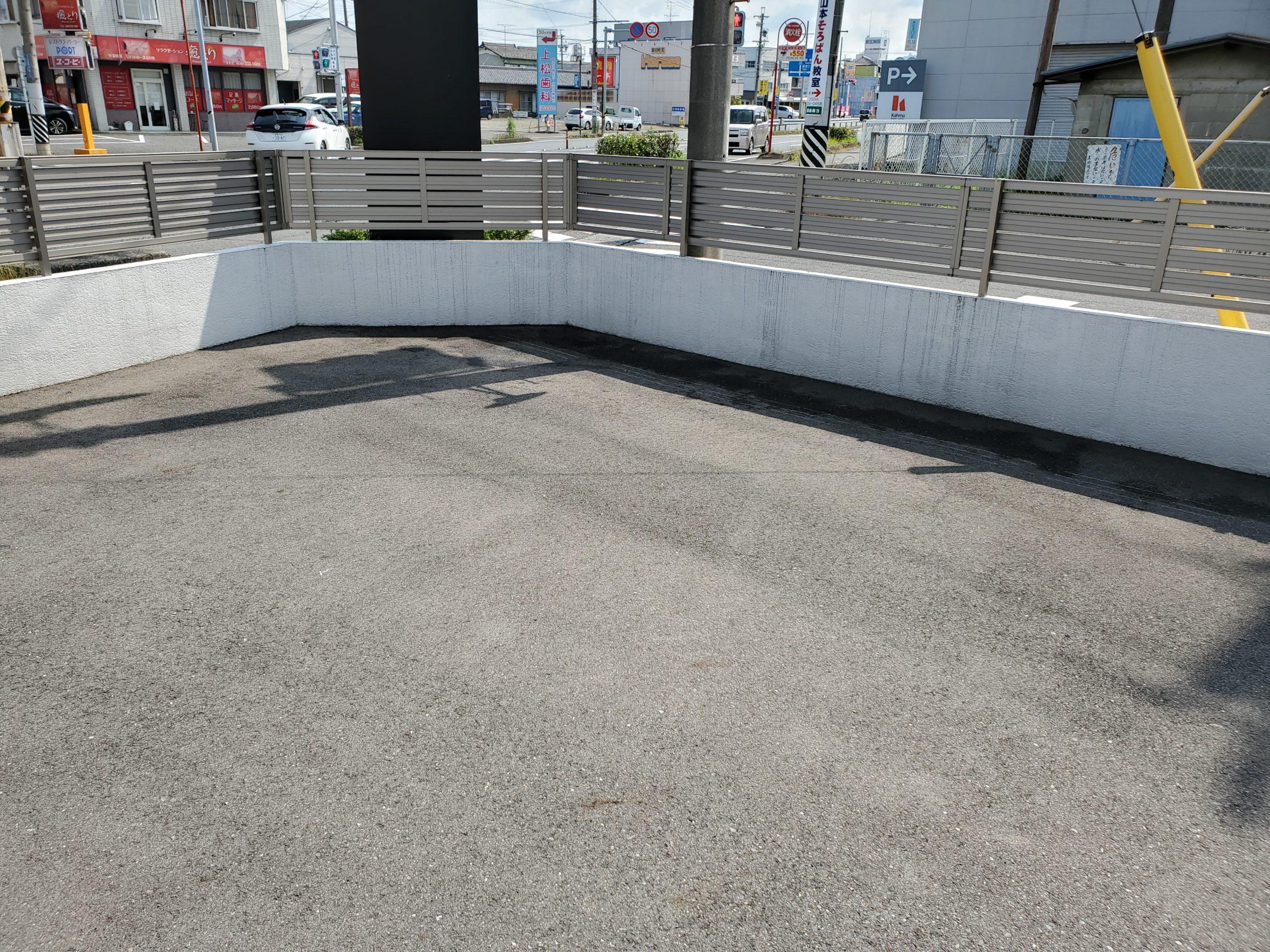 会社の駐車場 施工前写真