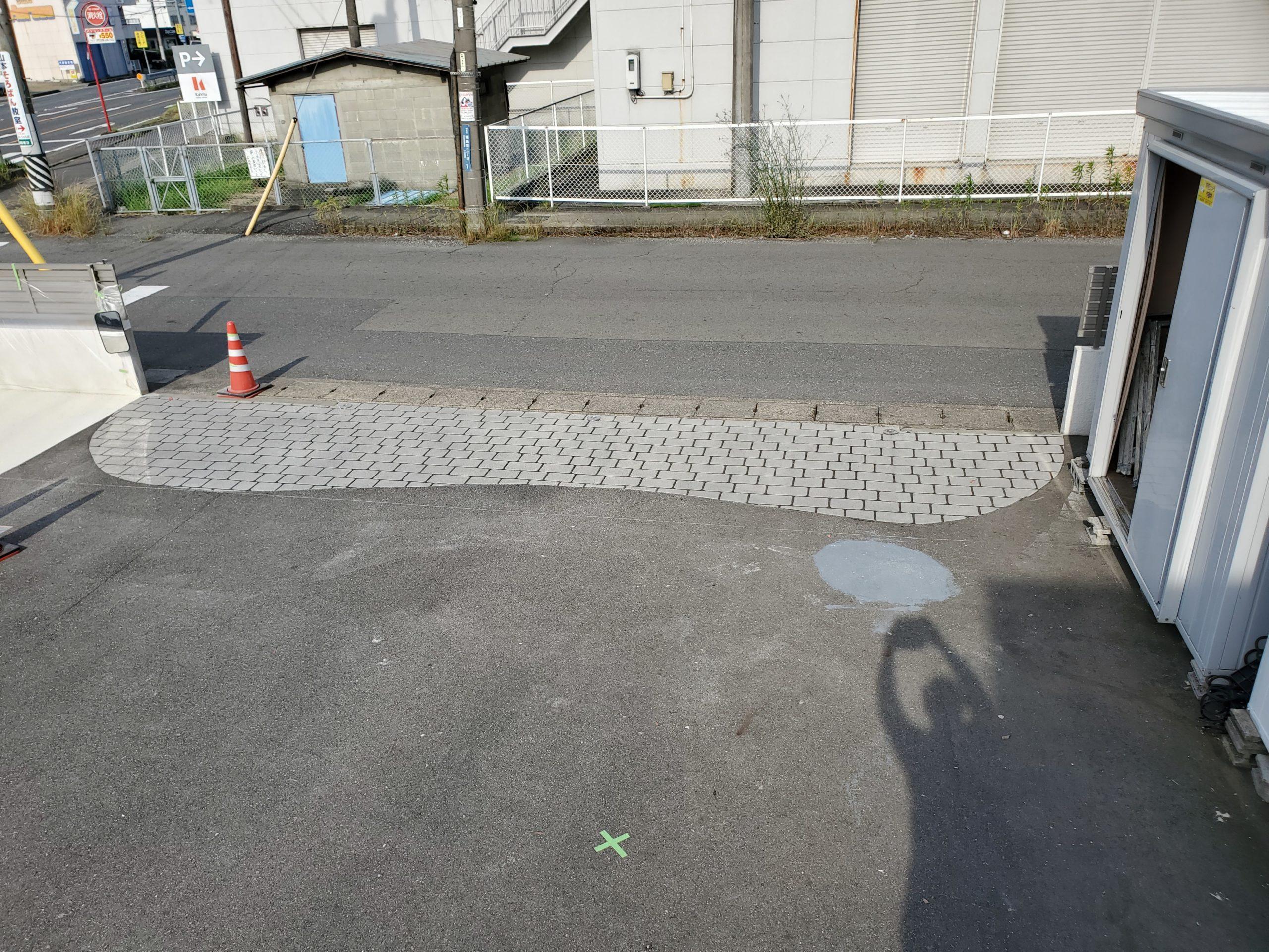 会社の駐車場 施工完了写真