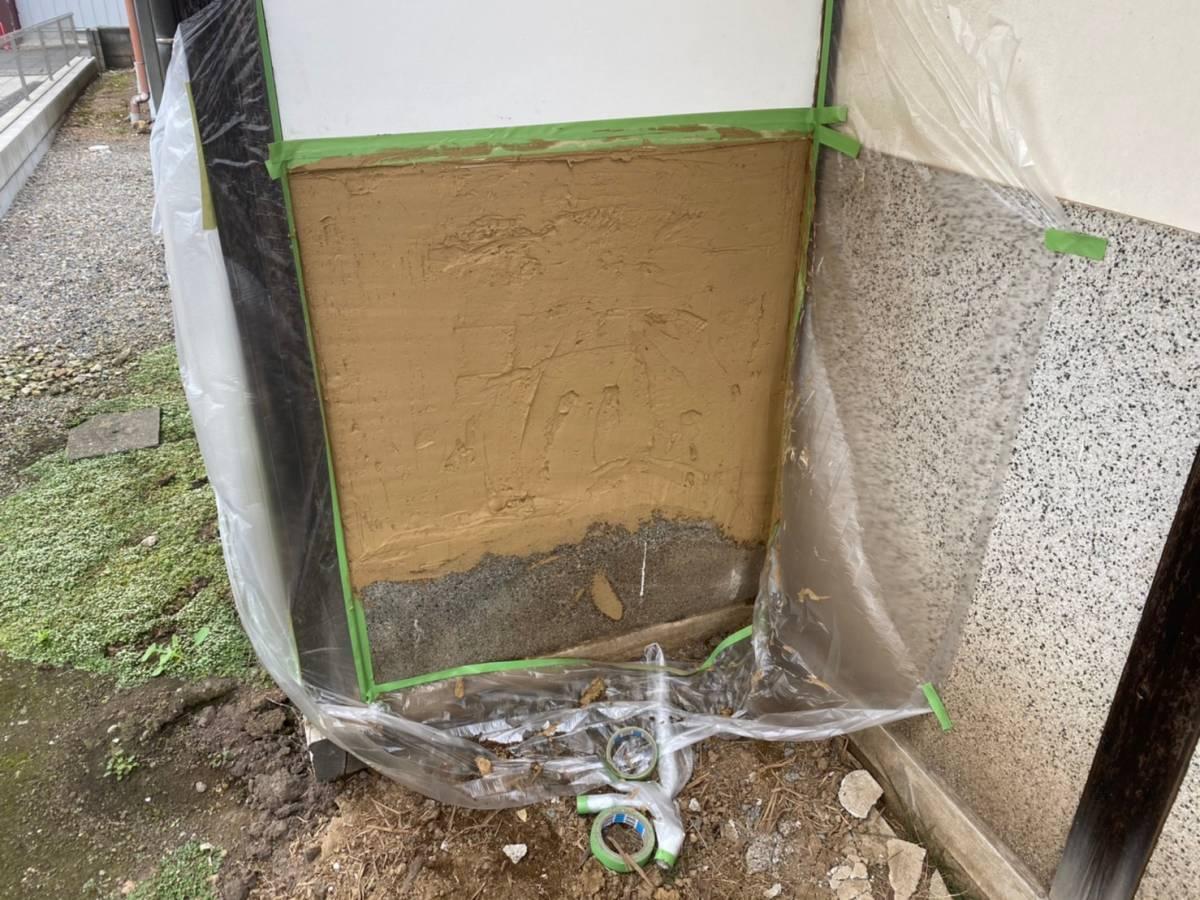 土壁補修施工完了写真