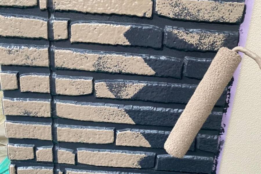 Wトーン 上塗り施工
