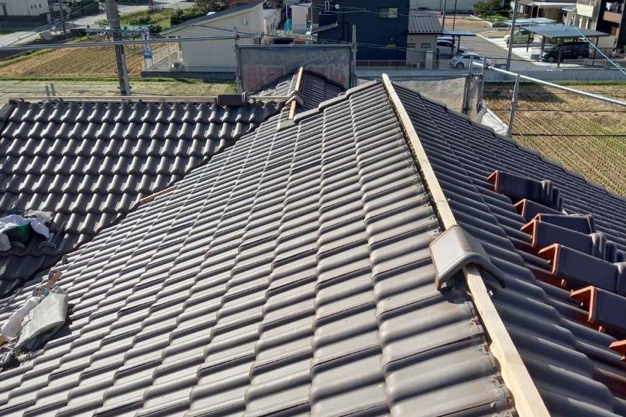 屋根瓦 胴縁施工
