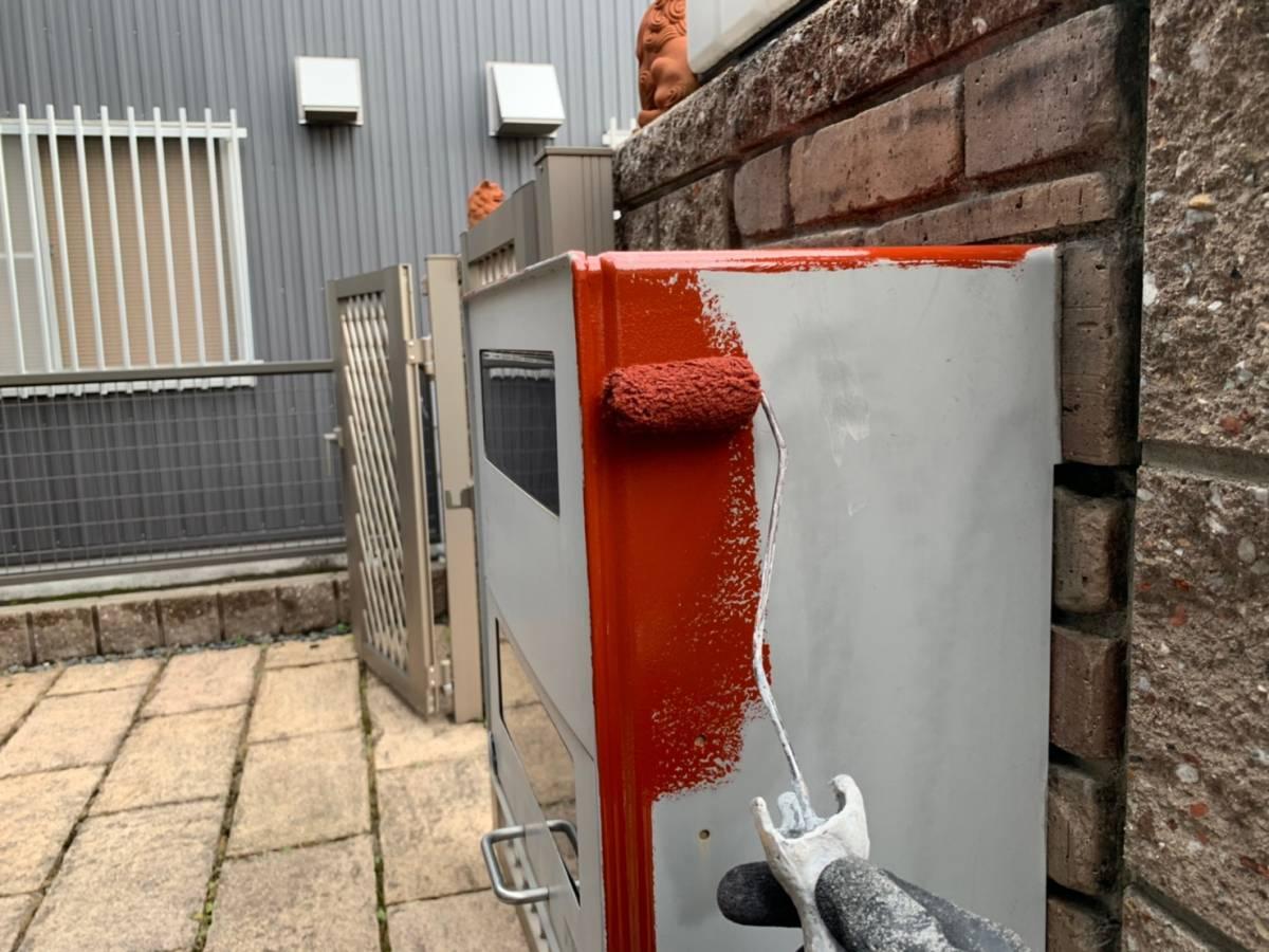 ポスト サビ止め塗装