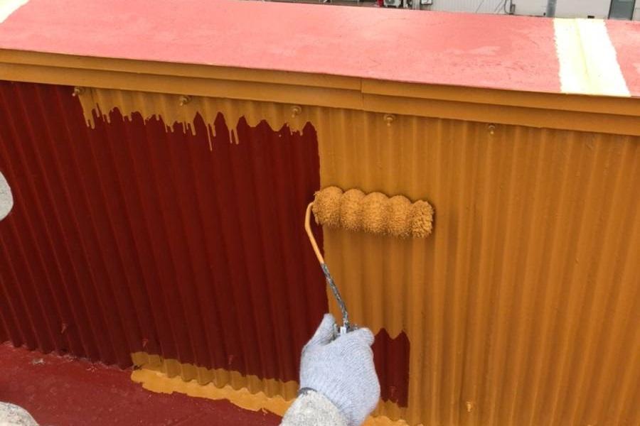 パラペット塗装施工
