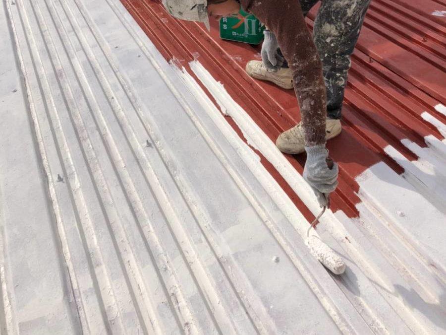屋根板金 サビ止め2回目