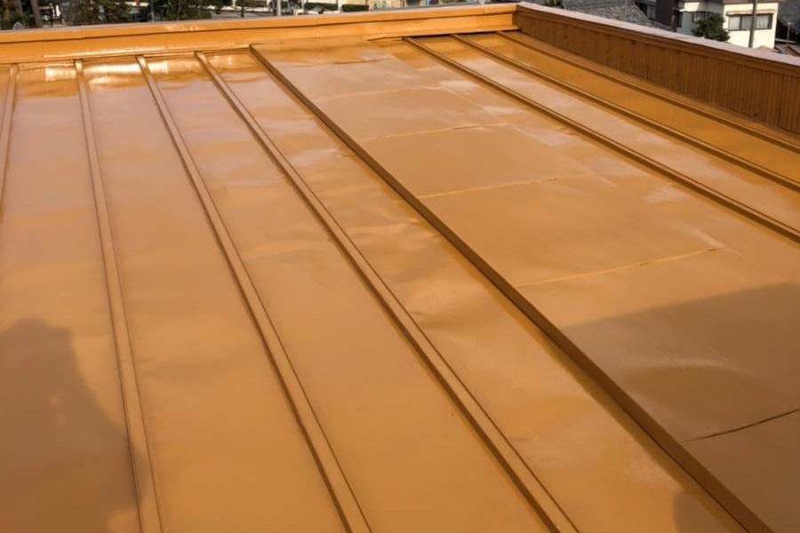 屋根塗装完了写真