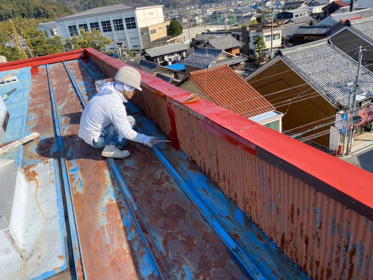 屋根板金 サビ止め塗装