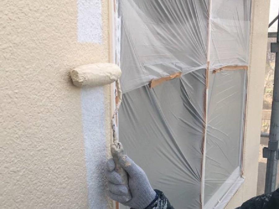 外壁 上塗り 施工写真