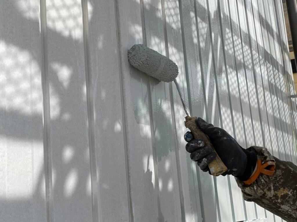 外壁トップ色塗装