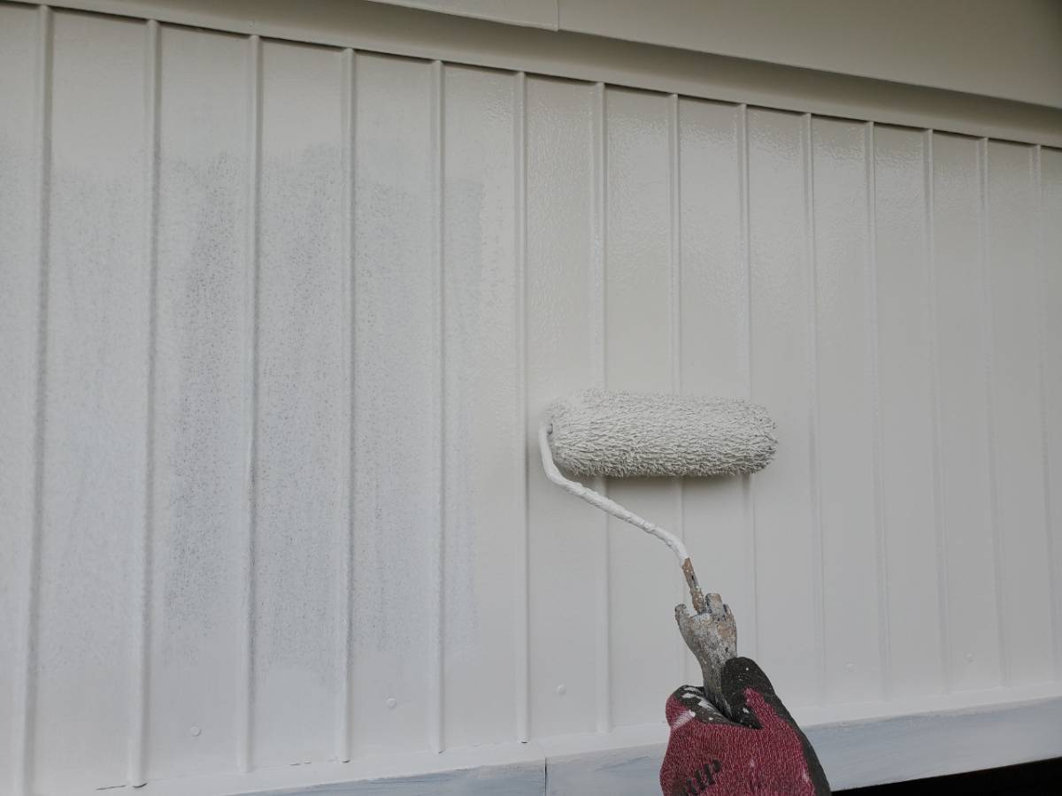 外壁2階色トップ塗装