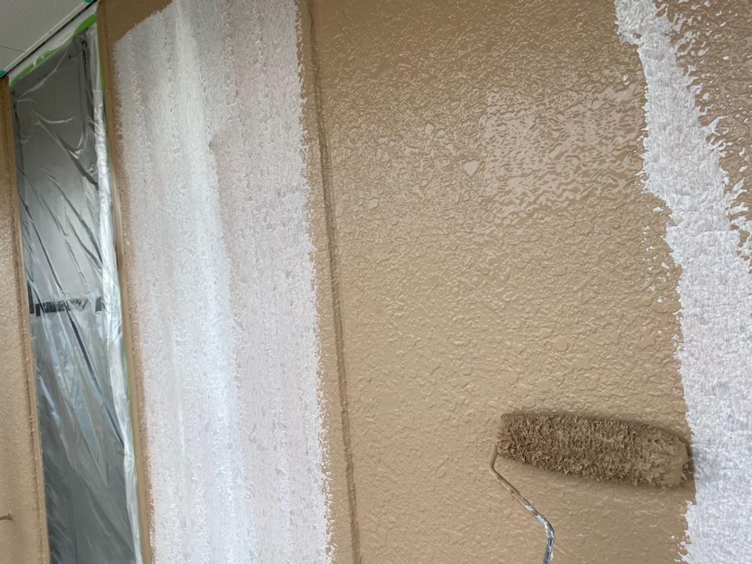 外壁 上塗り施工写真