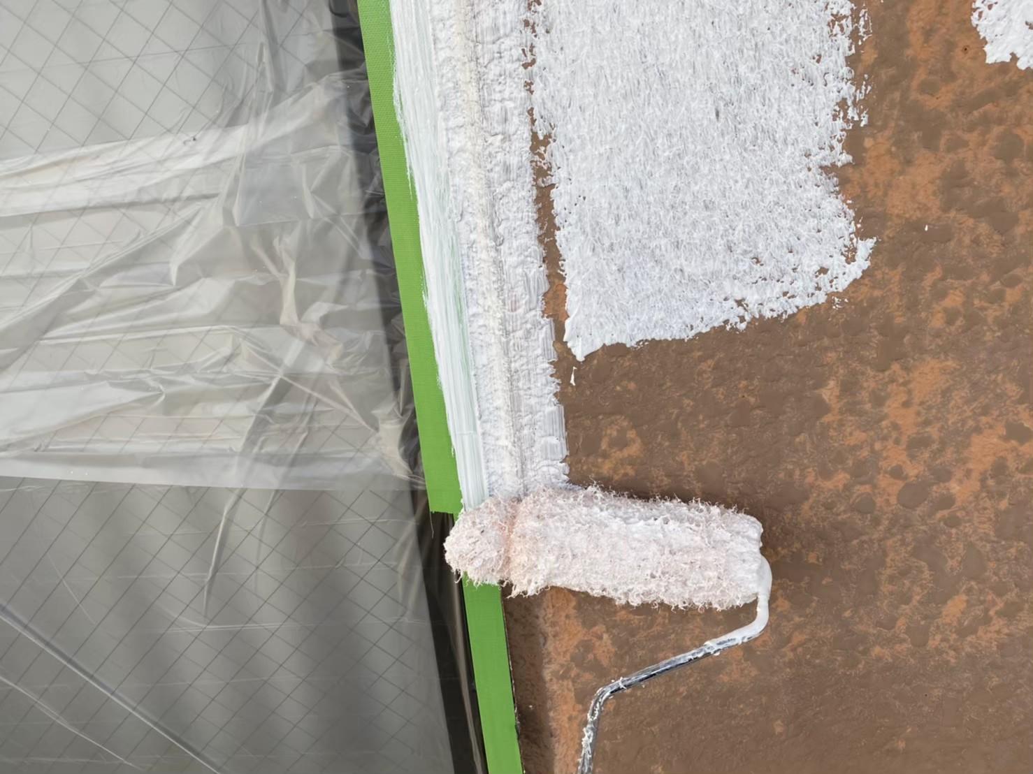 外壁下塗り 施工写真