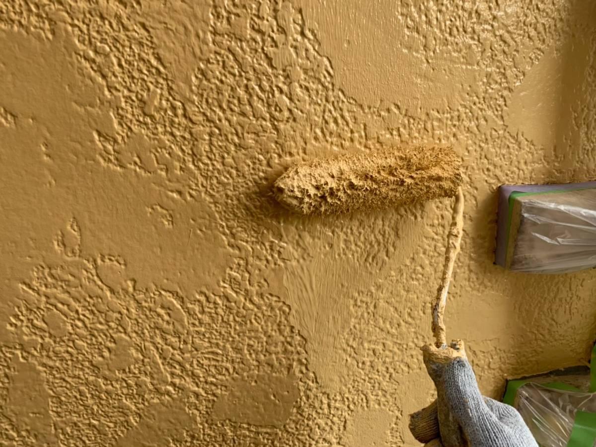 外壁 上塗り2回目施工写真