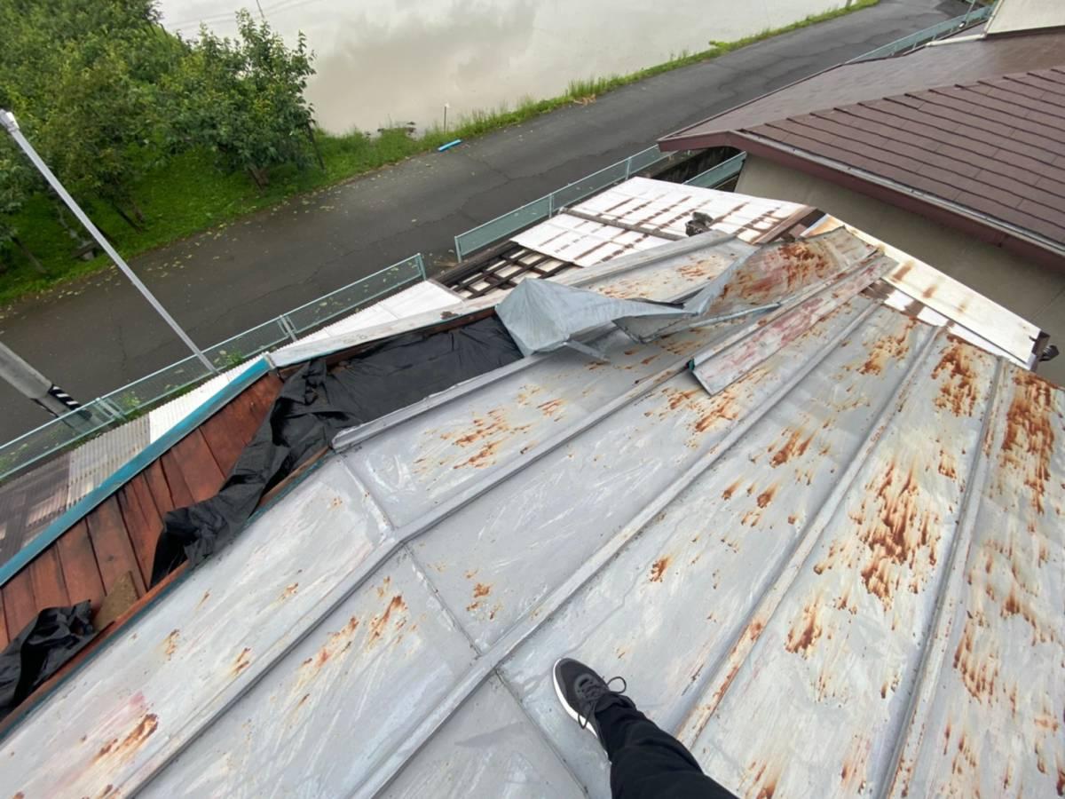 屋根板金 捲れ 画像