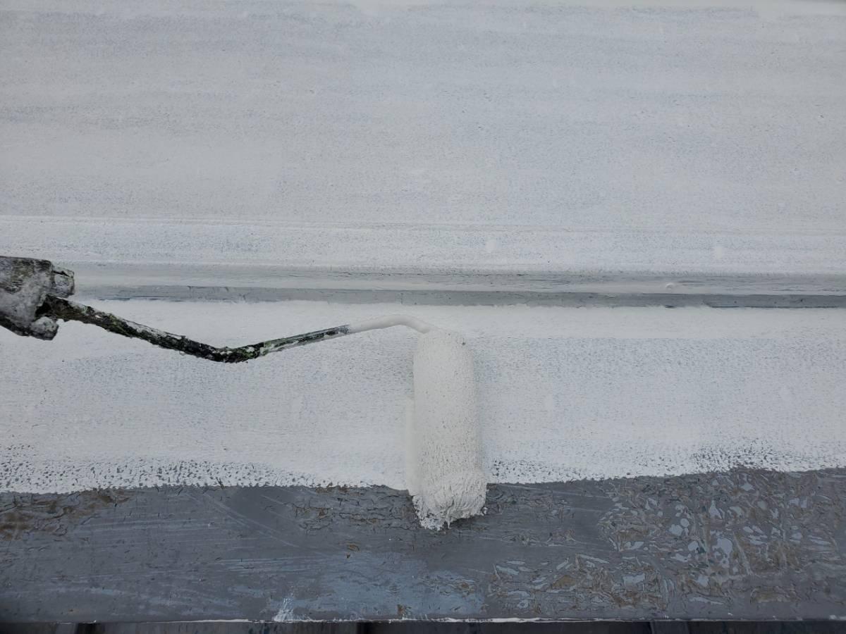 屋根板金 錆止め塗装施工写真