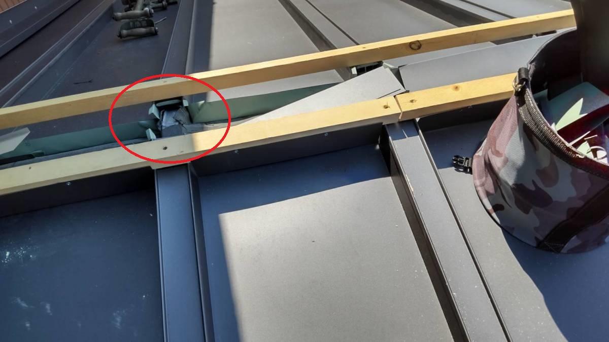 屋根板金 カバー工法 施工写真