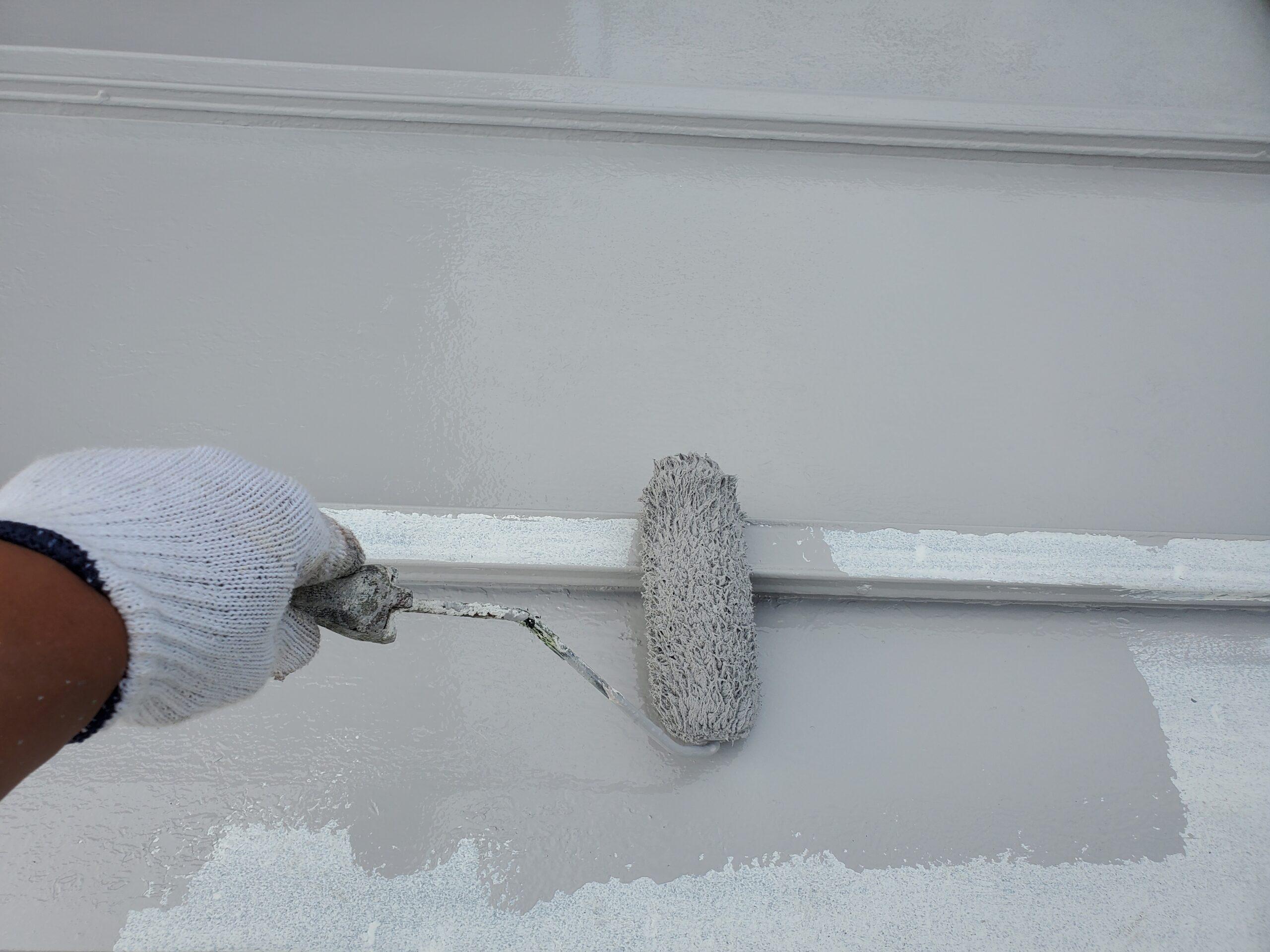 屋根板金 上塗り施工写真