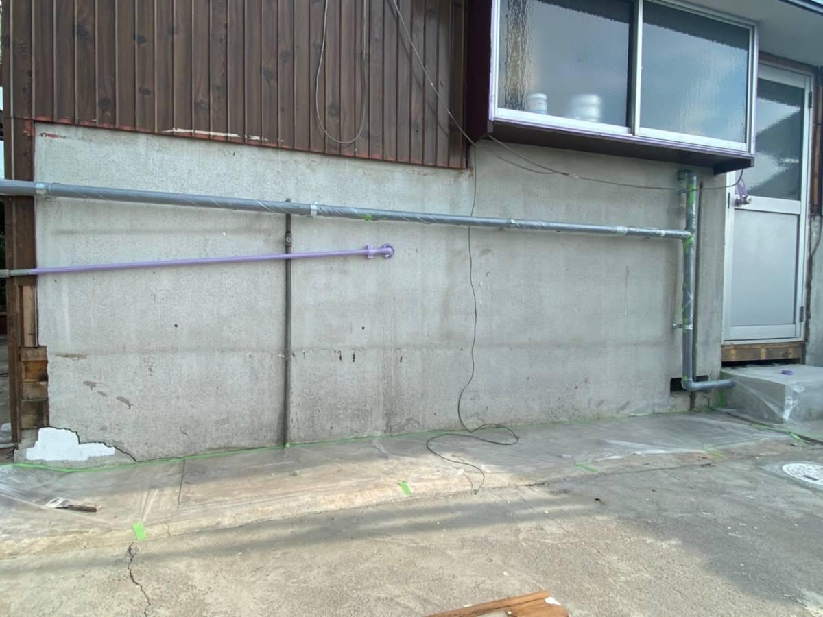 施工前 コンクリート壁